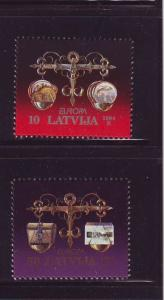 Latvia Sc 379-0 1994 Europa stamp set mint NH