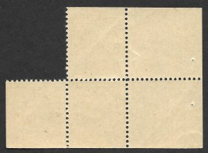 Doyle's_Stamps: 1922 MNH Canadian KGV (Partial) Booklet Pane, Scott #107b**