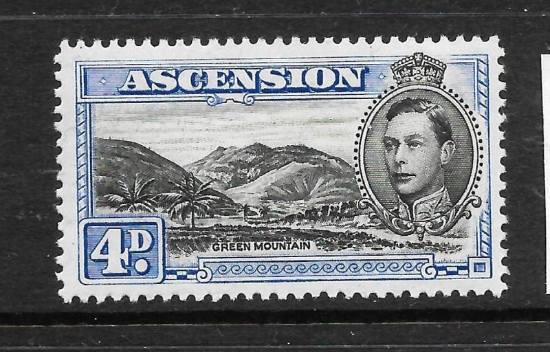 ASCENSION ISLAND  1938-53  4d   KGVI  PICTORIAL  MLH   P13    SG 42cd
