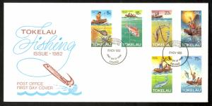 TOKELAU 1992 FISHING METHODS Set on U/A Cachet FDC Sc 85-89