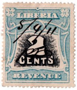 (I.B) Liberia Revenue : Duty Stamp 2c