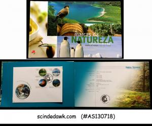 PORTUGAL - 2008 MARKS OF NATURE SPECIAL BOOK WITH 5-FDCs