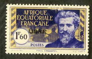 FRENCH EQUATORIAL AFRICA 113 MH SCV $4.00 BIN $1.75 PERSON