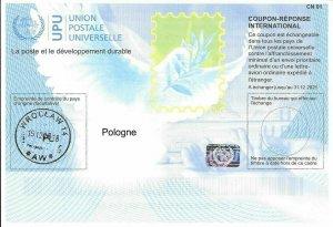POLAND - (IRC) INTERNATIONAL REPLY COUPON (31.12.2021) (POSTMARKED), MNH