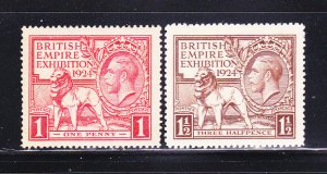 Great Britain 185-186 Set MH British Lion and King George V