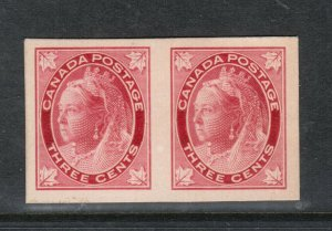 Canada #69P Extra Fine Proof Pair India On Card
