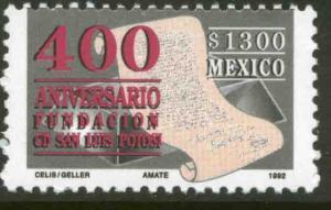 MEXICO 1777, 400th Anniversary of San Luis Potosi. MINT, NH. F-VF.