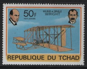 CHAD, C233, MNH, 1978, Wilbur and Orville Wright and flyer