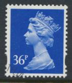 Great Britain SG Y1702 Sc# MH224    Used with first day cancel - Machin 36p