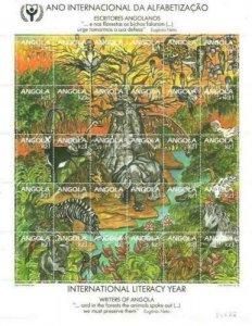 Angola 1990 International Literacy Year 30v M/S MNH