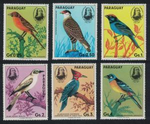 Paraguay Birds Birth Bicentenary of. Audubon 6v SC#2141