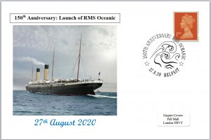 2020 150th anniversary launch rms oceanic ships postal card 150 x 100mm