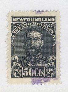 Newfoundland Revenue Used Stamp #NFR24-50c No Bank Imprint Guide Value = $30.00