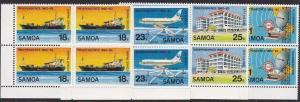 SAMOA 1982 Independence Anniv set blocks of 4 MNH..........................69070