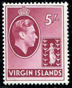 HERRICKSTAMP VIRGIN ISLANDS Sc.# 85 5 Sh. Rose Lake Key Value Mint NH