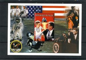 Niger 1999 J.F.Kennedy Apollo 11 Space Souvenir Sheet Perforated MNH