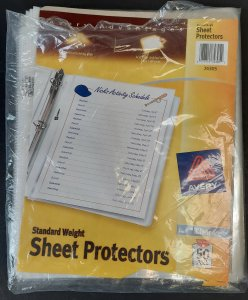 AVERY SHEET PROTECTORS, Standard Weight, Clear, #74305, 48 in the pack