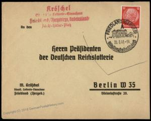 Germany Friedland Sudetenland Lotterie Cover 67117