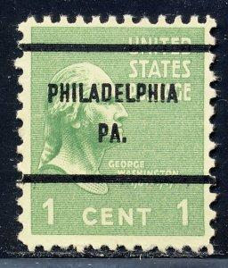 Philadelphia PA, 804-61 Bureau Precancel, 1¢ Washington