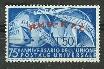 Italy-Trieste # 40 A.M.G. O/pt  U.P.U.     (1)    VLH