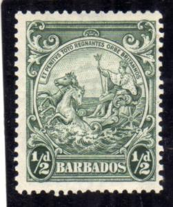 BARBADOS 1938 1947 SEAL OF THE COLONY HALF PENNY 1/2p MNH