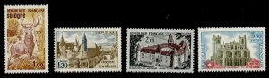 France 1334-7 MNH Red Deer, Charlieu Abbey, Saint-Just Catherdral