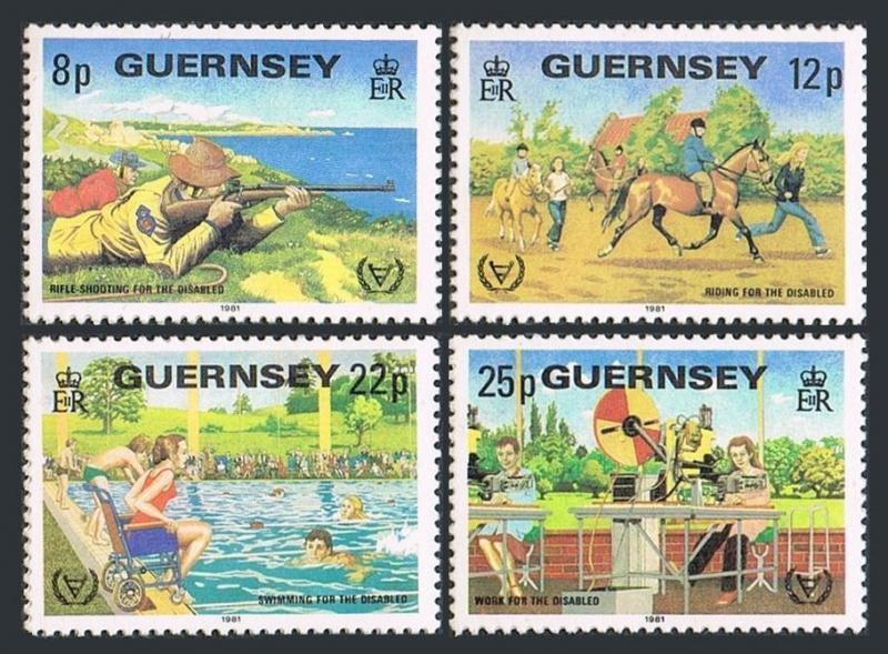 Guernsey 232-235,MNH.Michel 237-240. Year of the Disabled IYD-1981