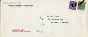U.S. Scott 828 and 807 Prexies/Prexys on First Class Registered Ret. Rcpt. Cover