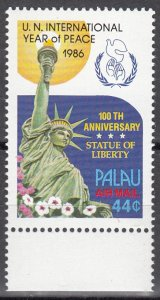 Palau, Sc C17, MNH, 1986, Year of Peace