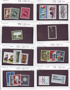 Z632 JL stamps germany mnh on sales cards, check scan, all checked & sound