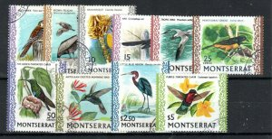 Montserrat 1971 glazed, ordinary paper values to $5 FU CDS