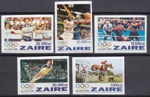 1996Zaire1126-1130b1996 Olympic Atlanta44,00 €