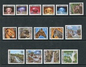 Zimbabwe SG576/90 Set (no 40c) U/M