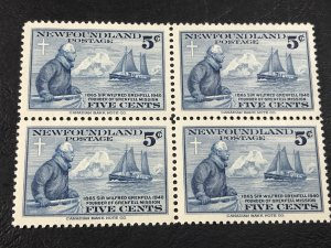 NEW FOUNDLAND # 252-MINT NEVER/HINGED----BLOCK OF 4----1941
