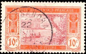 CÔTE-D'IVOIRE - 1920 - CAD SASSANDRA / COTE-D'IVOIRE DOUBLE CERCLE SUR N°45
