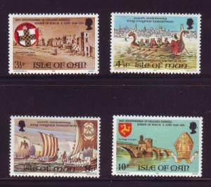 Isle of Man Sc 44-7 1974 Haraldson stamps  mint NH