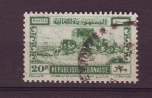 J10572 JL stamps @20%scv 1945 lebanon used #178 citidel
