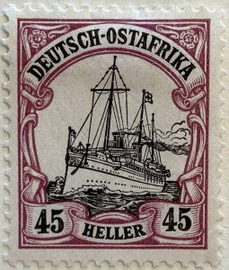 AlexStamps GERMAN EAST AFRICA #37 VF Used