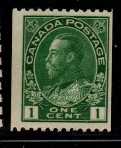 Canada Sc 131 1815 1 c dark green G V Admiral coil stamp mint NH