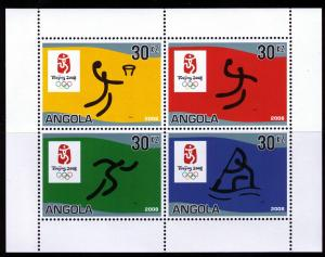 2007 Angola 1787-1790KL 2008 Olympiad Beijing 10,00 €