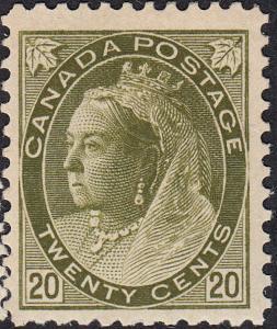CANADA 84 FVF MH  (102218)