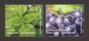 Montenegro Sc# 304-5 MNH Flora 2012