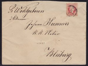 Austria - 1867 - Scott #29a - used on 1875 cover - Wien to Bleiburg