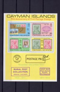 Cayman Islands 1976 Sc#371a FIRST POSTAGE STAMP 75th.ANNIVERSARY S/S (1) MNH