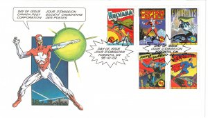 CANADA - FDC Comic Book Superheros 1995 SC1579-1583