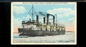 Car Ferry, Prince Edward Island Ice Breaker,  N.S. ship on used post card Canada