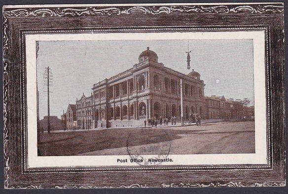 NEW SOUTH WALES 1911 postcard POST OFFICE NEWCASTLE used to USA............53724