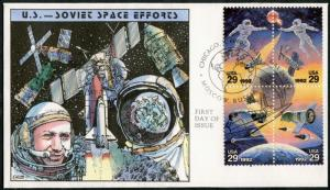 #2674a SPACE ACCOMPLISHMENTS HAND PAINTED FDC CACHET BY COLLINS BP7728