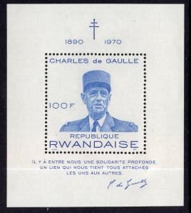 Rwanda 406 Souvenir Sheet MNH VF