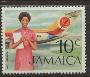 Jamaica - Scott 351 - QEII Definitive -1972 - MNH - Single 10c Stamp